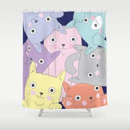 Curious Cats Shower Curtain