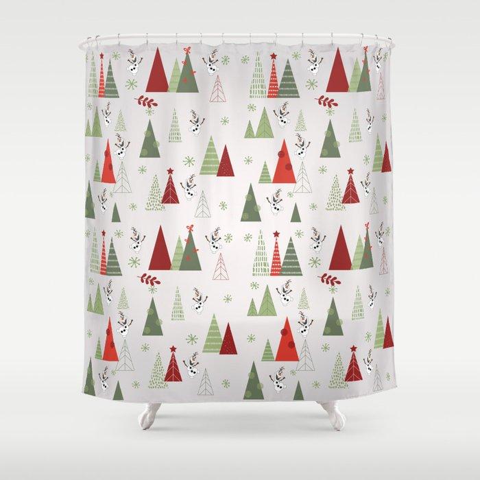 Olaf Christmas Shower Curtain