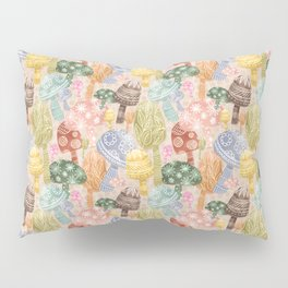 Folklore Mushrooms Pillow Sham