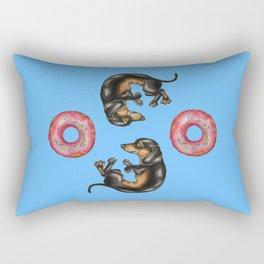 Dachshunds & Donuts Rectangular Pillow