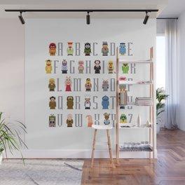 Pixel Muppet Show Alphabet Wall Mural
