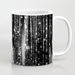 Magical Forest Black White Gray Coffee Mug