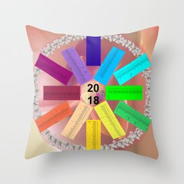 Kalender 2018 de - keltische Feiertage Throw Pillow