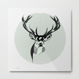 Le Cerf Pensive Metal Print