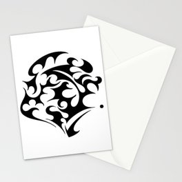 abstract swirl Stationery Cards