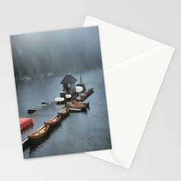 Foggy Morning At The Lake Stationery Cards