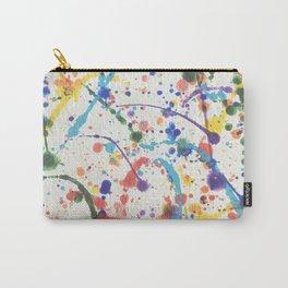 Rainbow Splatter Carry-All Pouch