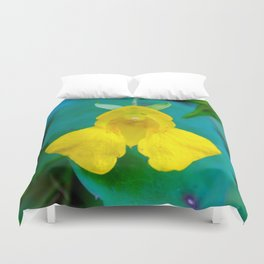 Happy Space Ship Duvet Cover