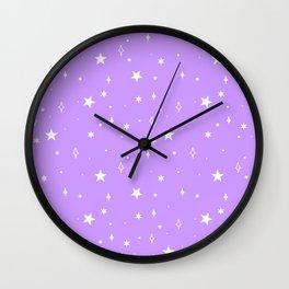 Space Pattern (purple/white) Wall Clock