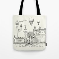 stockholm Tote Bags featuring Stockholm by Adam Lindfors