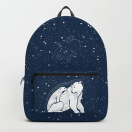 Polar Bear and Constellation Arctic Night Sky Stars Backpack