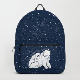 Polar Bear and Constellation Arctic Night Sky Stars Backpack
