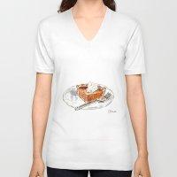 pie V-neck T-shirts featuring Pumpkin Pie by Elena Sandovici