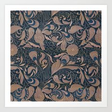 Carved Floral Pattern Art Print