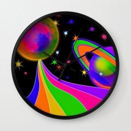 Neon Moon Wall Clock