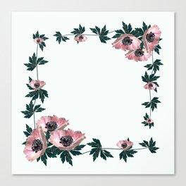 Anemones on white Canvas Print