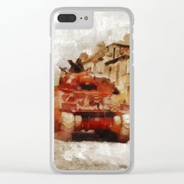 Advance Through Normandy, WWII Clear iPhone Case