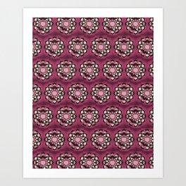 Pink Pelvis Flower Art Print