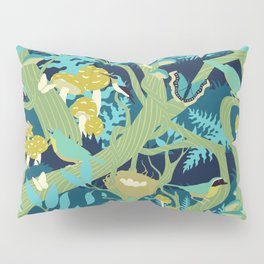 North American Forest Pattern (Greens) Pillow Sham