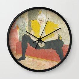 """Henri de Toulouse-Lautrec """"Sitting Clown"""" Wall Clock"""