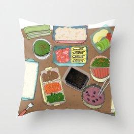 Lunch Box Memories Throw Pillow