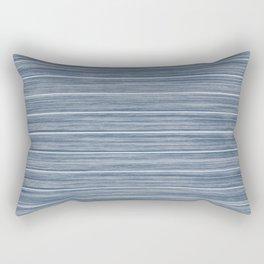 Dark Pastel Blue Whitewashed Beach Hut Cladding Rectangular Pillow