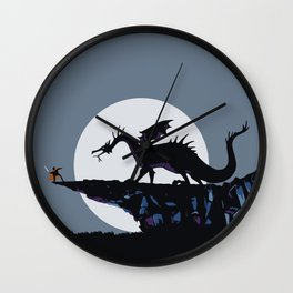 Maleficent, the dragon Wall Clock