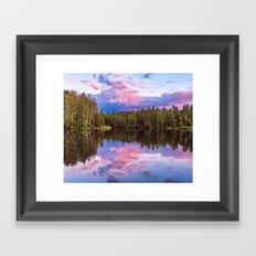 Sunset after summer rain Framed Art Print