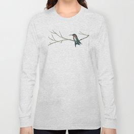 Hummingbird on a branch Long Sleeve T-shirt