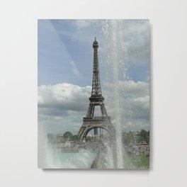 """Eiffel tower """"les pieds dans l'eau"""" Metal Print"""