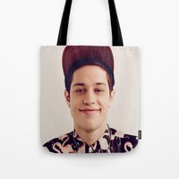 snl Tote Bags featuring Flamingos by F*** Me Pete Davidson
