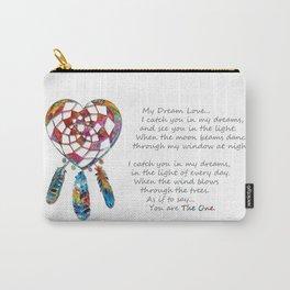 Dream Love - Dream Catcher Heart Art - Sharon Cummings Carry-All Pouch