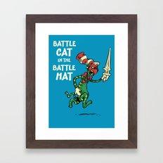 Battle Cat in the Battle Hat Framed Art Print