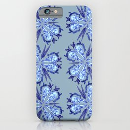 Itty bitty bones blue iPhone Case