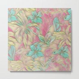 Floral Dreams 619-1A pastel Metal Print