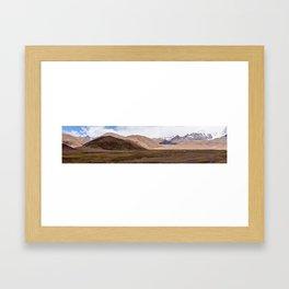 Tibet mountain landscape Framed Art Print