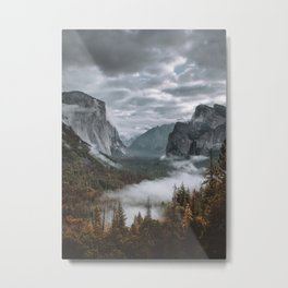 Misty Tunnel View Metal Print