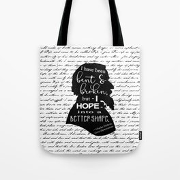 Into a Better Shape - Dickens (B&W Large) Tote Bag
