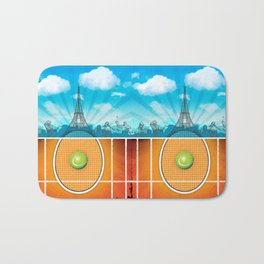 Paris Tennis Bath Mat
