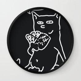Poker Cat Wall Clock