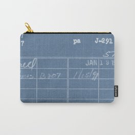 Library Card 797 Negative Blue Carry-All Pouch