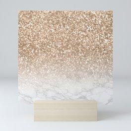 Sparkle - Gold Glitter and Marble Mini Art Print