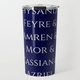 Rhysand Feyre Amren Cassian Mor Azriel ACOMAF Fandom Travel Mug