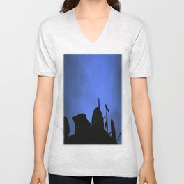 Incoming night on the city Unisex V-Neck