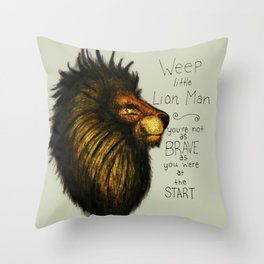 weep little lion man Throw Pillow
