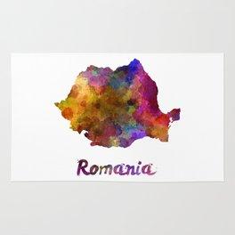 Romania in watercolor Rug