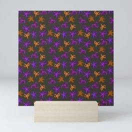 Ochre Sea Star Pattern (brown) Mini Art Print
