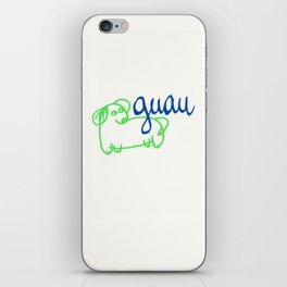 Guau - a dog iPhone Skin