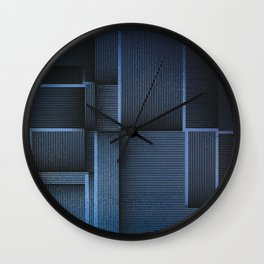 Rhythm of Rectangles and Blues Wall Clock