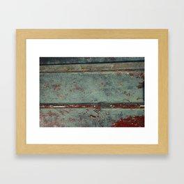 Boat Wood Paint Texture Cornwall Framed Art Print